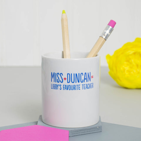 Personalised Favourite Teacher Desk Tidy