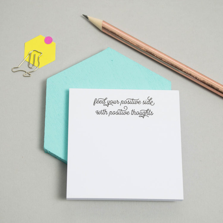 'Feed Your Positive Side' Sticky Notes