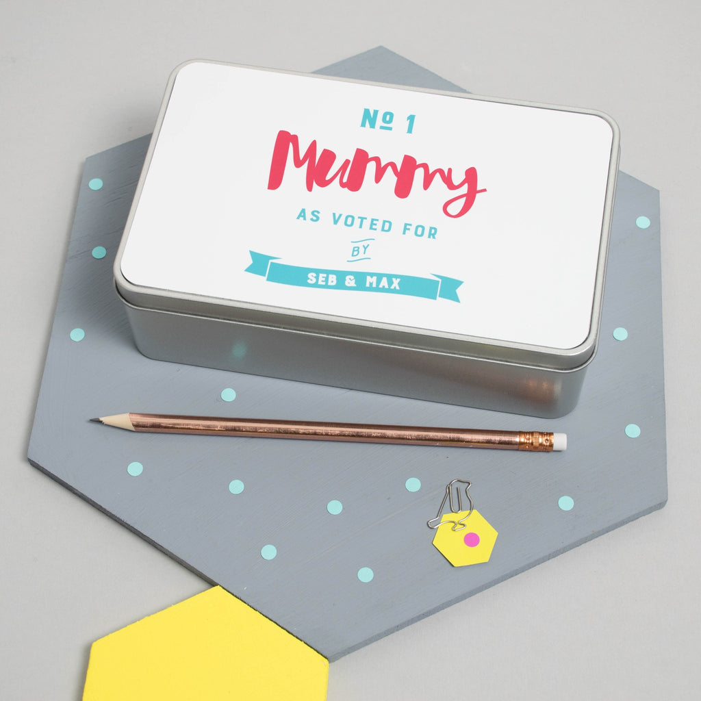 Personalised 'Number One Mummy' Tin