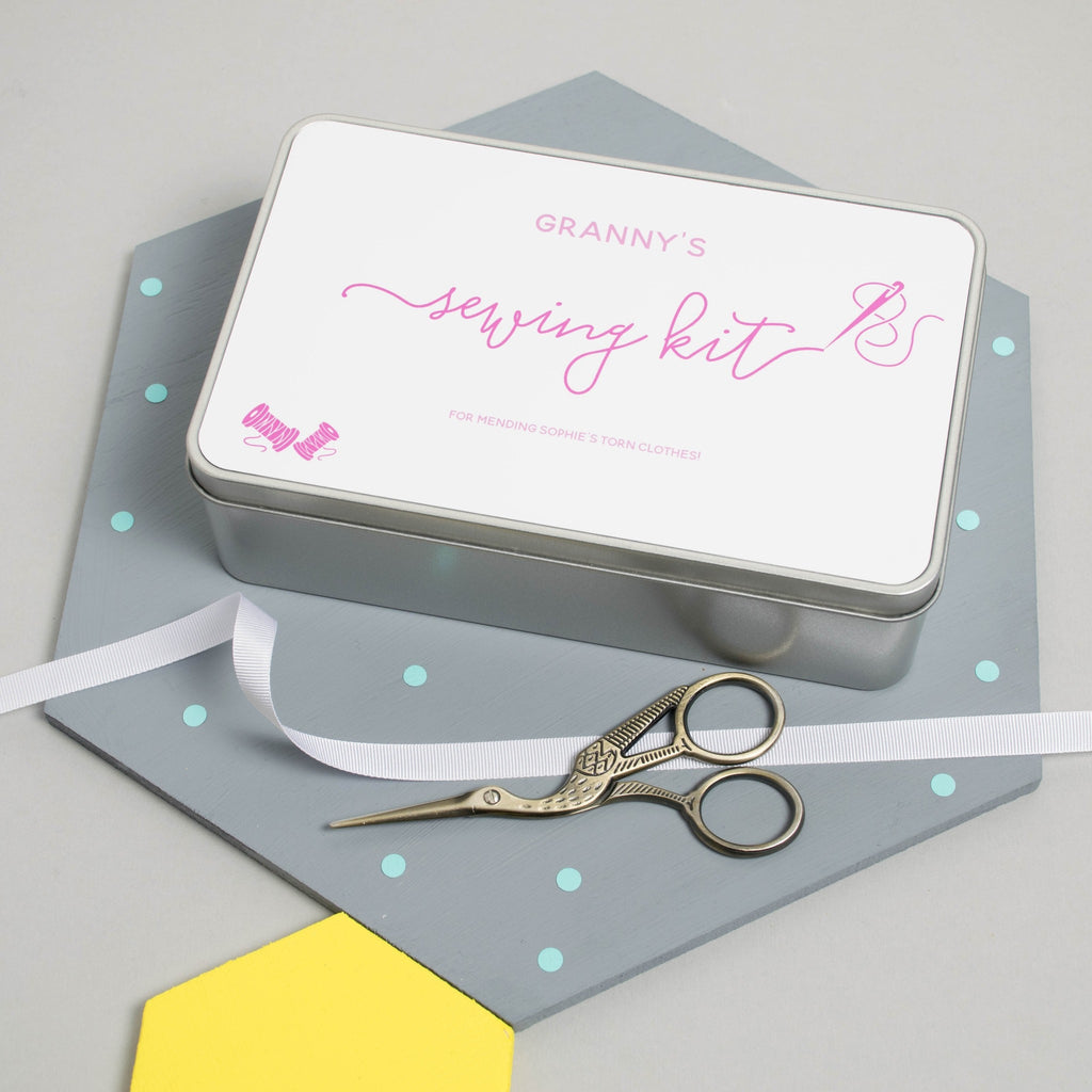 Personalised Sewing Kit Tin