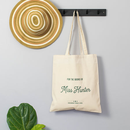 Personalised 'For The Books Of' Teacher's Tote Bag