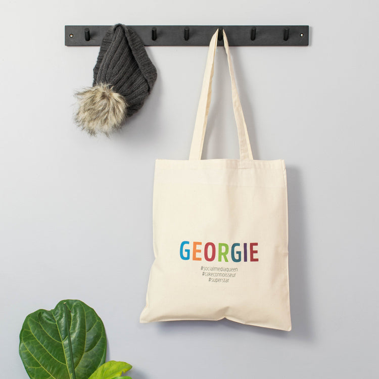 Colourful Hashtag# Tote Bag
