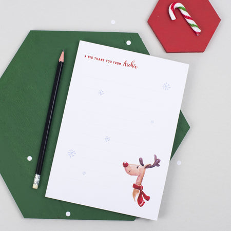 Personalised Big Christmas Thank You Pad