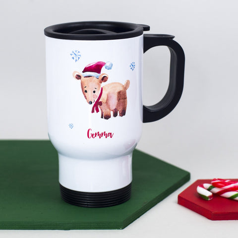 Personalised Christmas Travel Mug