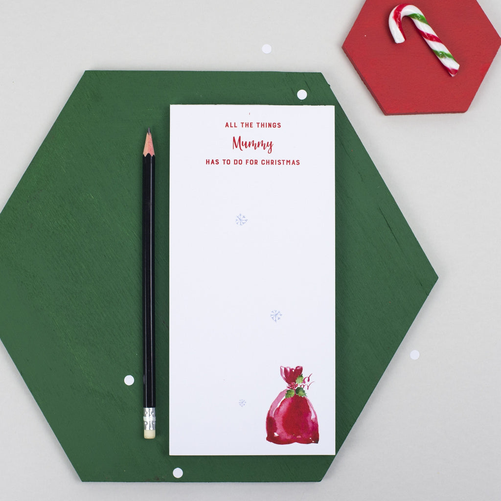 Personalised Christmas To Do List Notepad