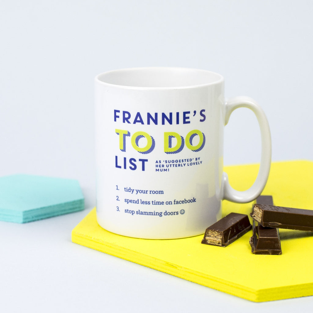 Personalised To Do List Mug