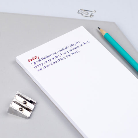 Personalised 'Daddy Dictionary Definition' Notepad