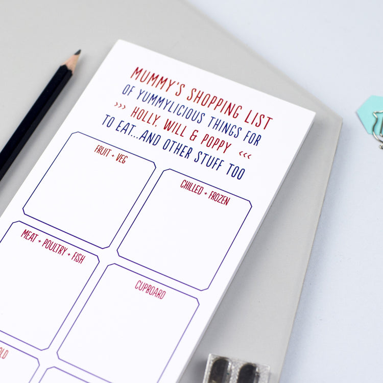 Personalised 'Shopping List' Notepad
