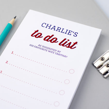 Personalised Retro-Style 'To Do List' Notepad