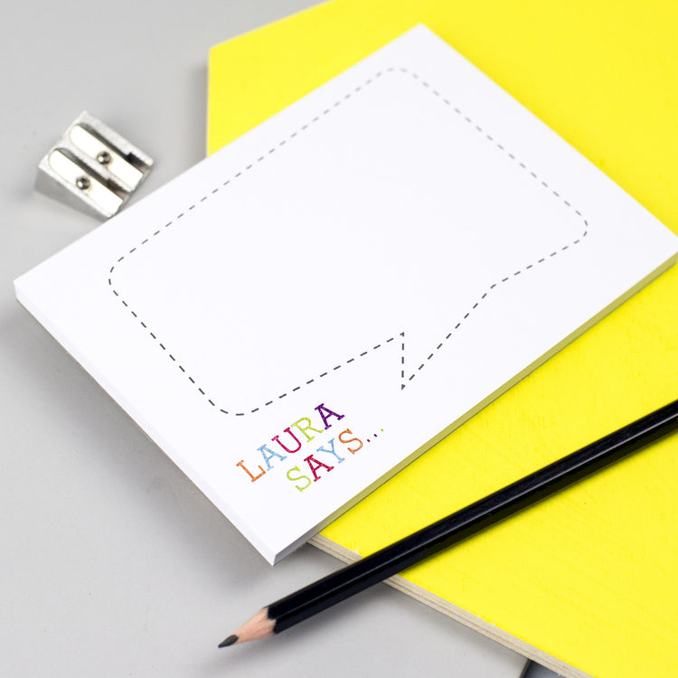 Colourful 'Speech Bubble' Notepad (A6)