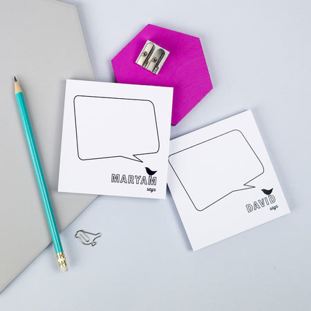 Personalised Pair Of Mini 'Speech Bubble' Notepads