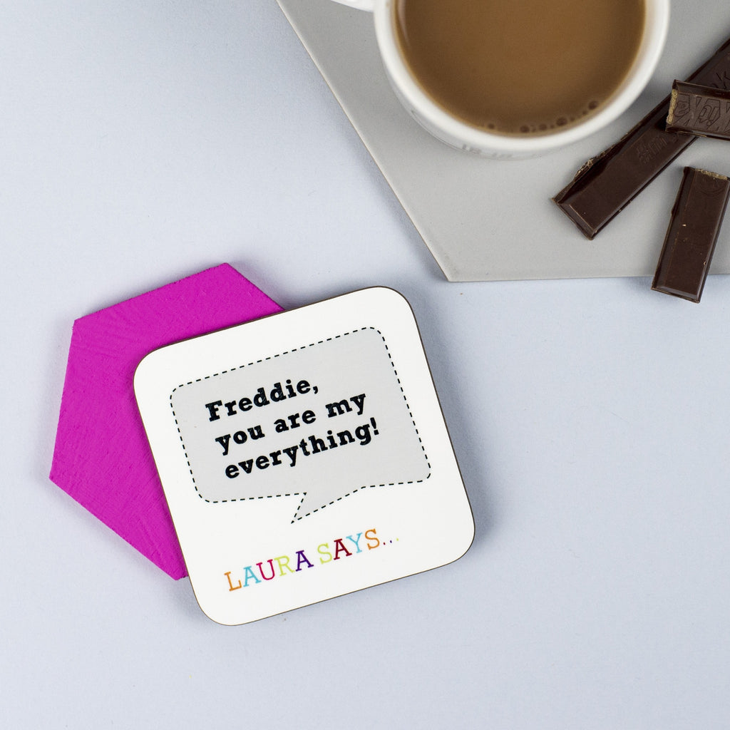 Personalised Speech Bubble Coaster