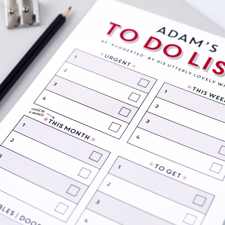 To Do List Notepad (A5)