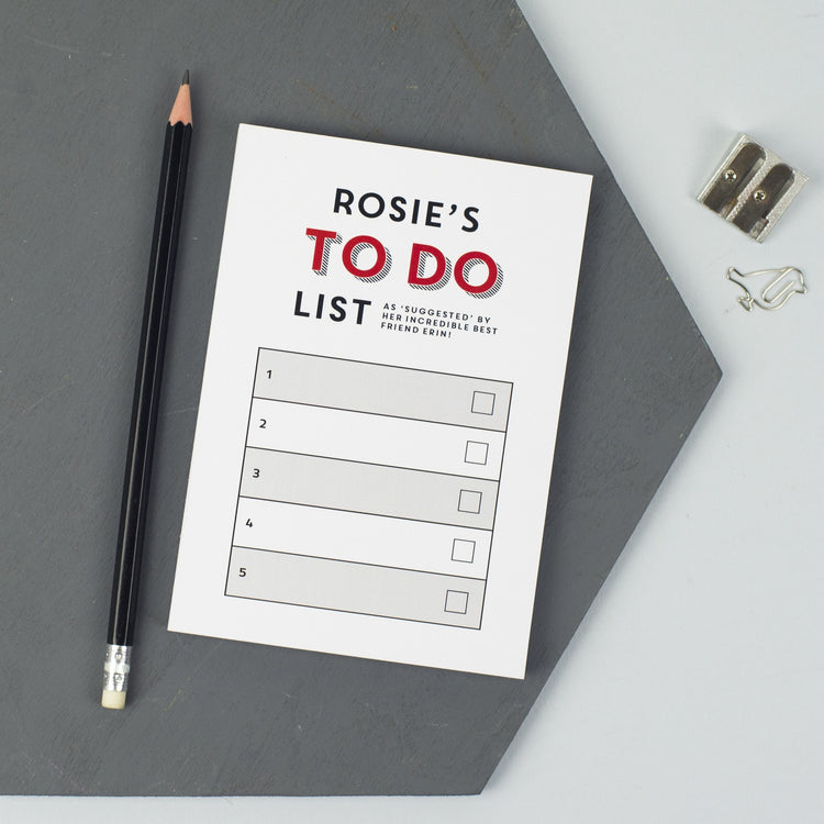 To Do List Notepad (A6)