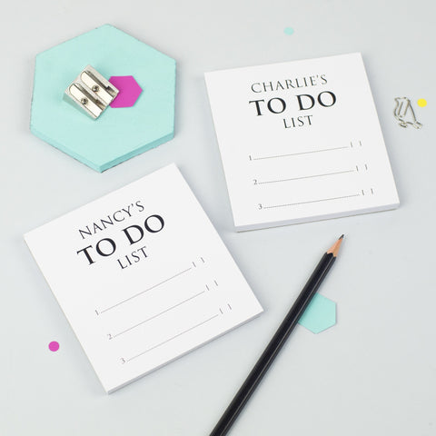 Personalised Pair Of Mini Classic To Do List Notepads