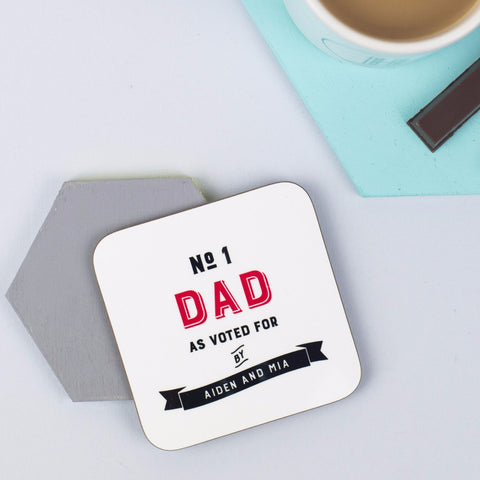 Personalised 'Number One Daddy' Coaster