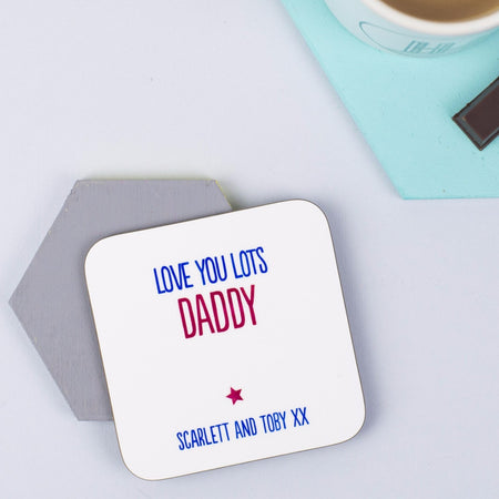 Personalised 'Love You Lots' Coaster