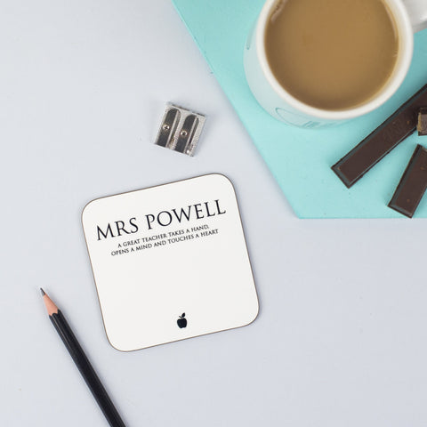 Personalised Classic Teacher's Coaster