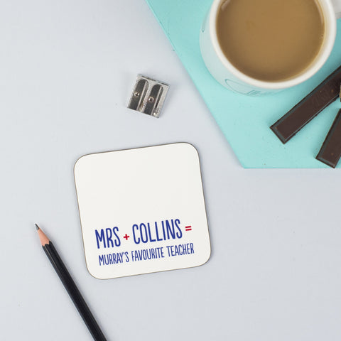 Personalised 'Favourite Teacher' Coaster