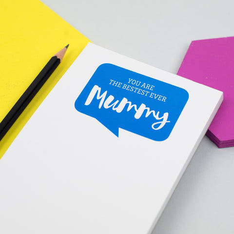 Personalised 'Bestest Ever Mummy' Notepad