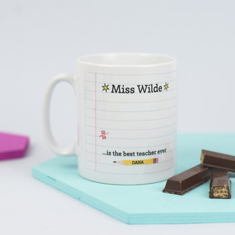 Personalised 'Best Teacher' Mug