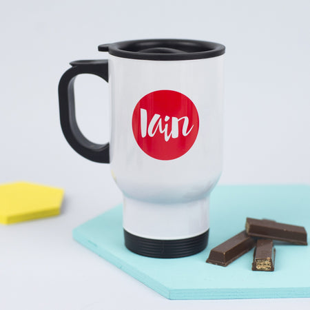 Circle Name Travel Mug