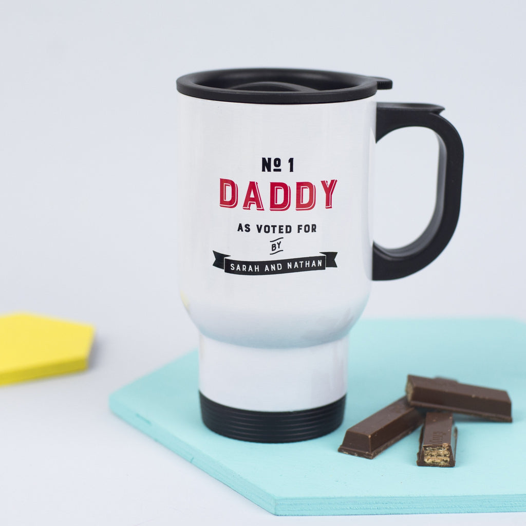 Personalised 'Number One Daddy' Travel Mug
