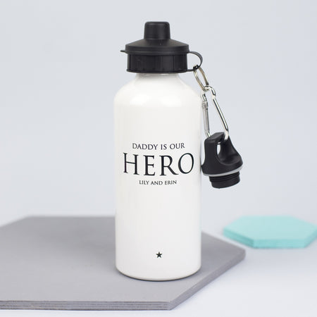 Daddy Is Our Hero Water Bottle