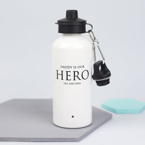 Personalised 'Daddy Is Our Hero' Water Bottle