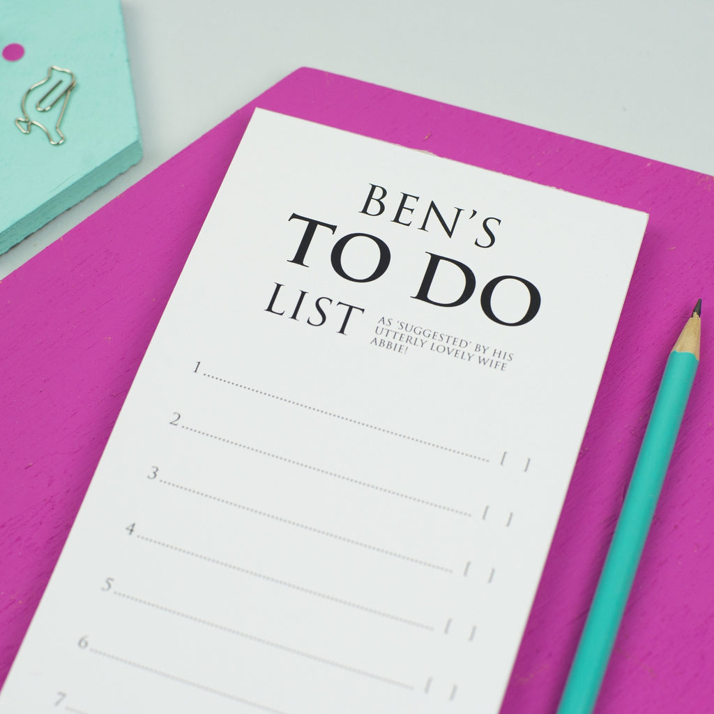 Personalised Classic 'To Do List' Notepad