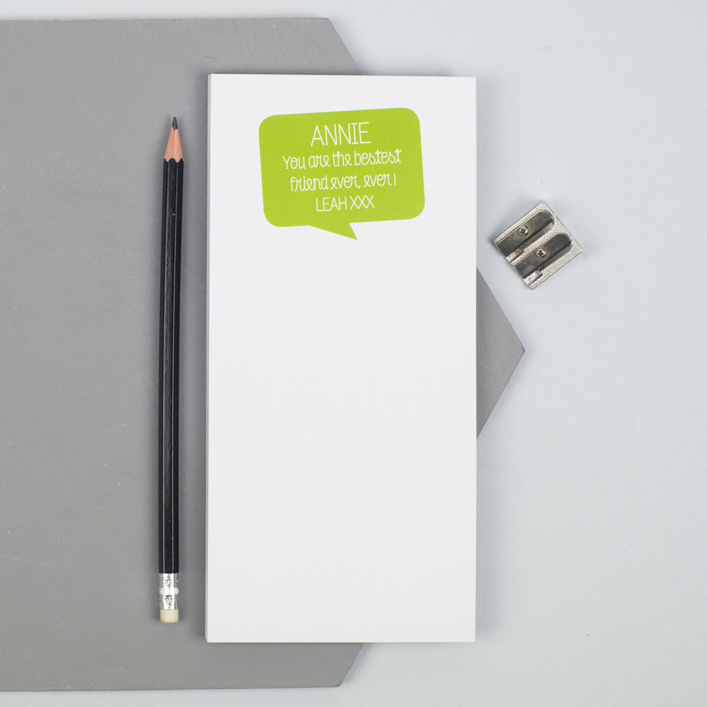 Personalised 'Positive Message' Notepad