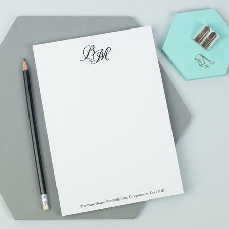 Personalised Wedding Thank You Writing Pad