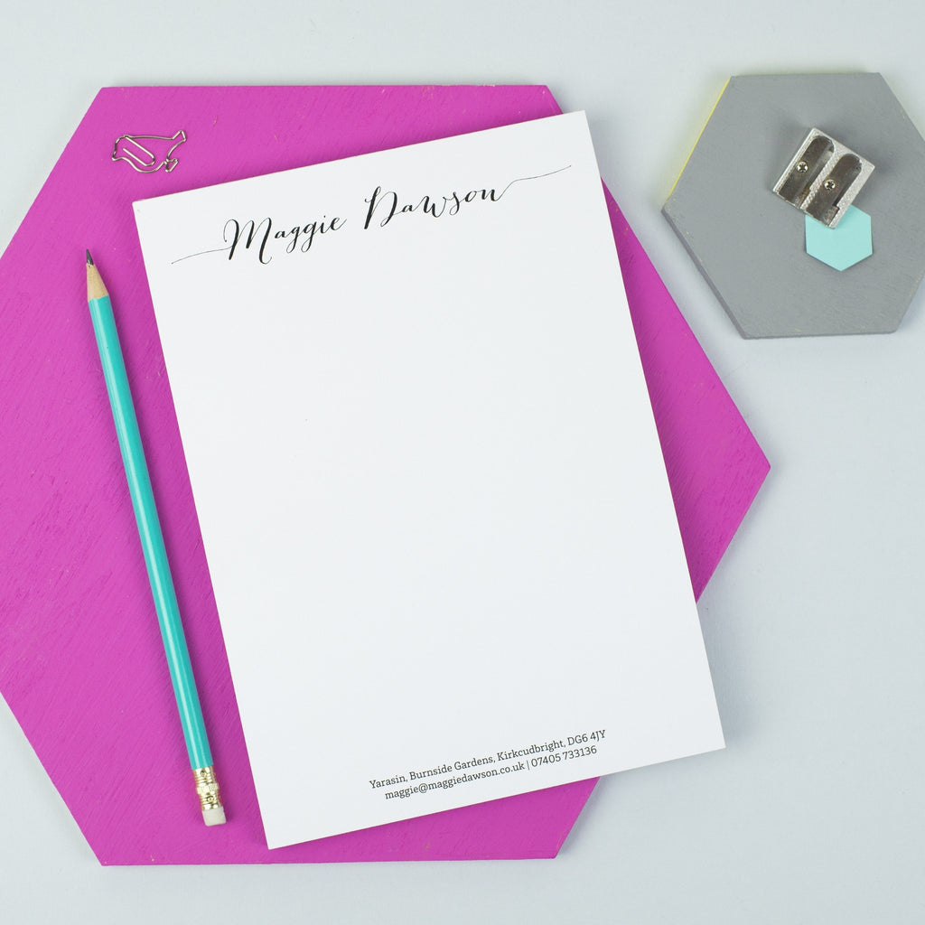 Personalised Calligraphy Writing Pad