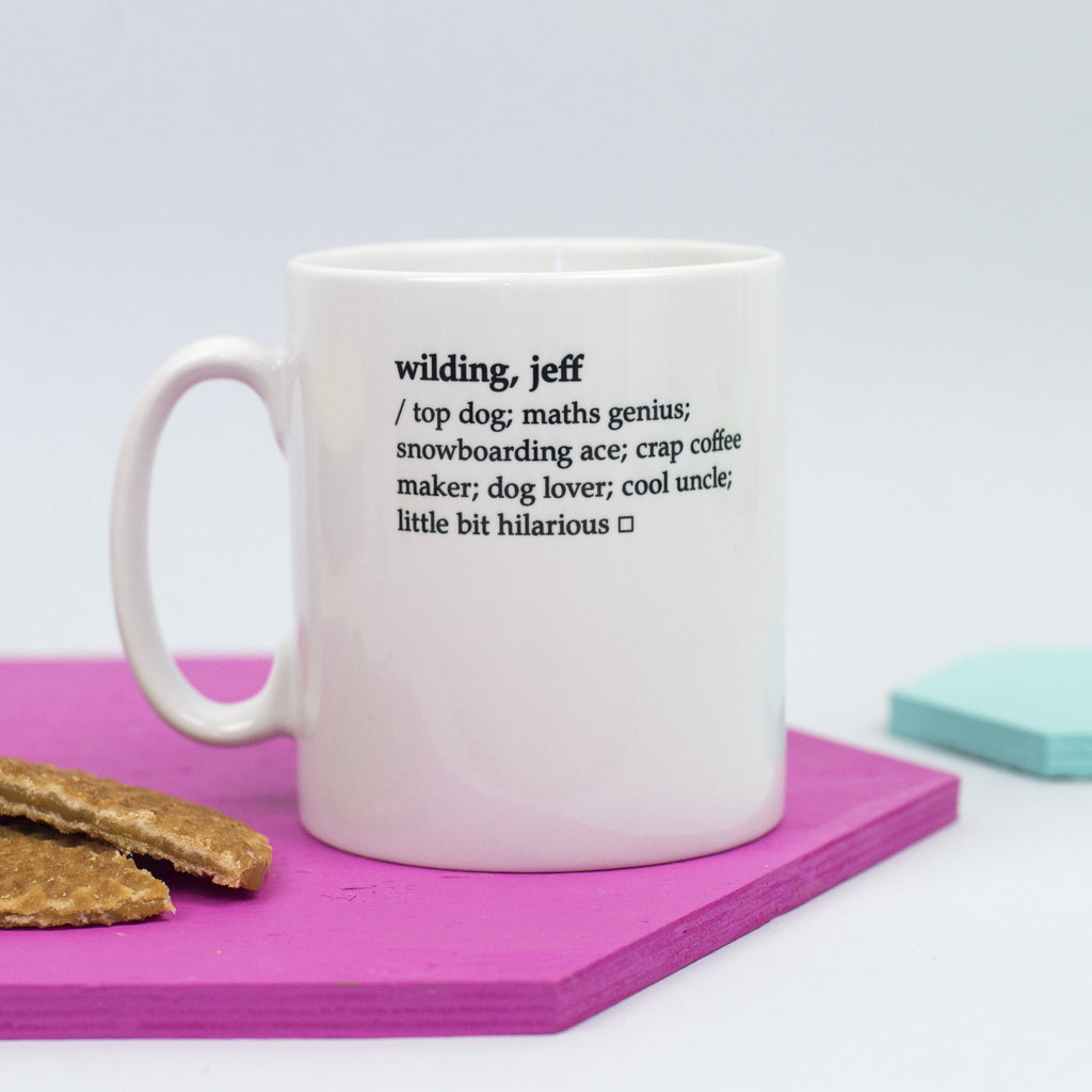 Personalised 'Dictionary Definition' Mug