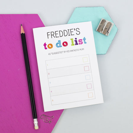 Colourful To Do List Notepad (A6)