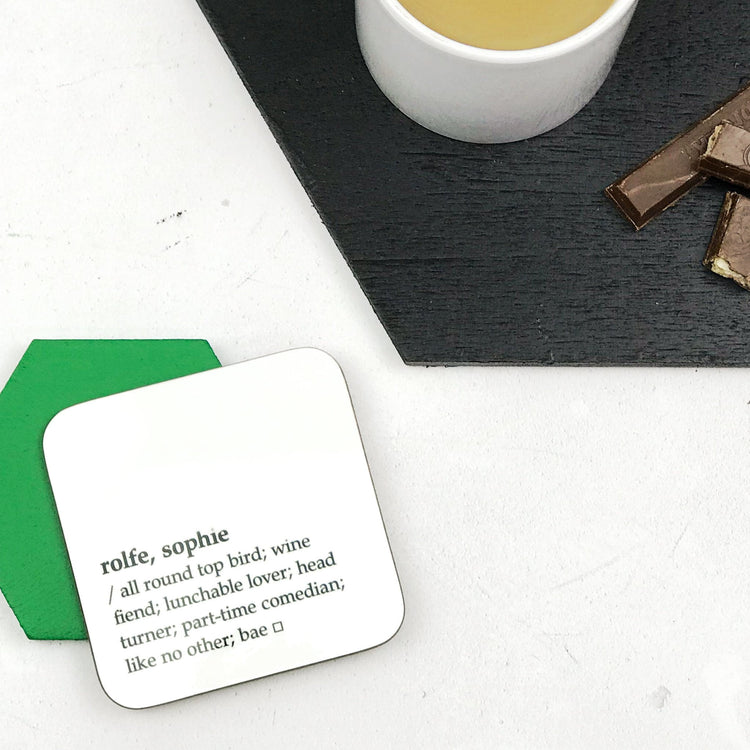 Dictionary Definition Coaster