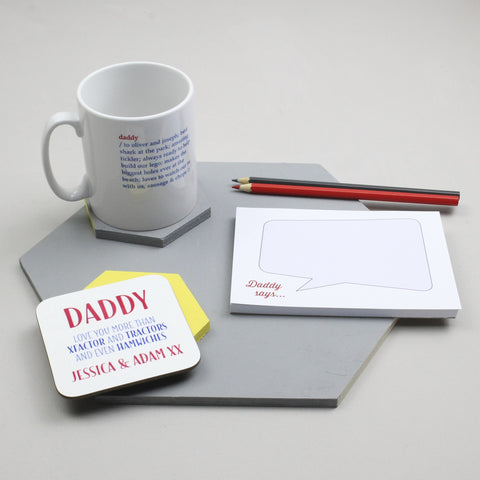 Personalised 'Defining Dad' Father's Day Gift Set