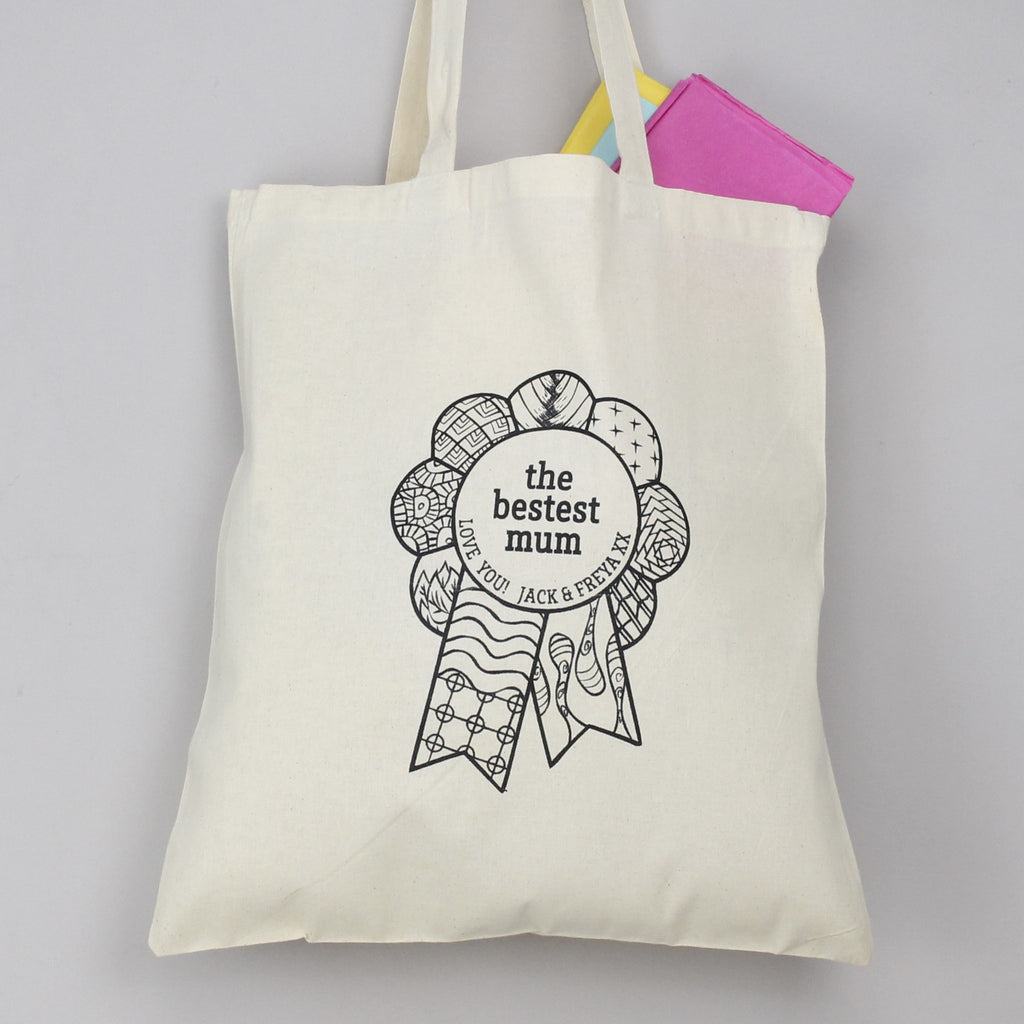 Personalsed 'Bestest Mum' Mother's Day Tote Bag