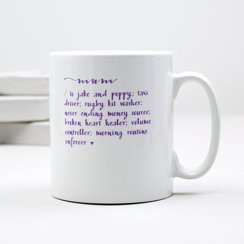 Personalised 'Mummy's Dictionary Definition' Mug