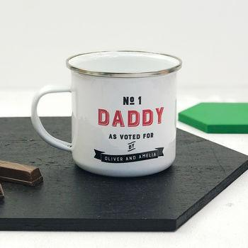 Number One Daddy Enamel Mug