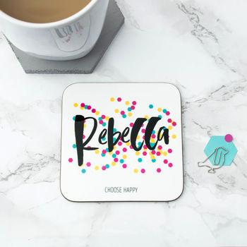 Personalised Happiness Coaster