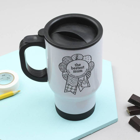 Personalised 'Bestest Mum' Mother's Day Travel Mug