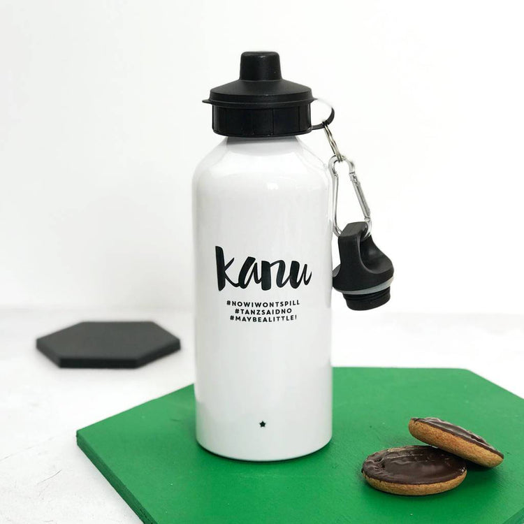 Personalised Monochrome #Hashtag Water Bottle