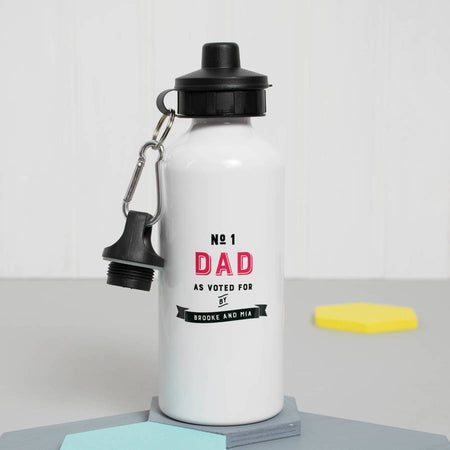 Personalised 'Number One Daddy' Water Bottle