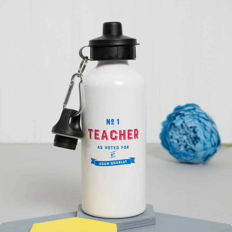 Personalised 'Number One Teacher' Water Bottle