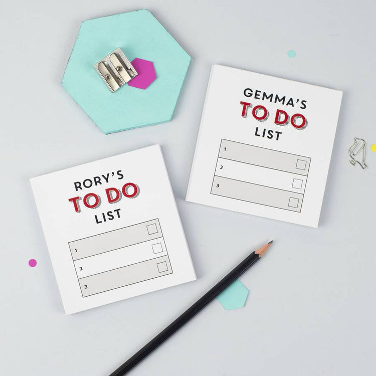 Personalised Pair Of Mini To Do List Notepads