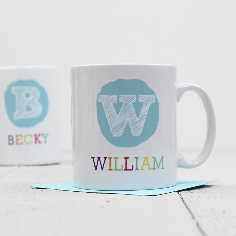Personalised Initial And Name Mug