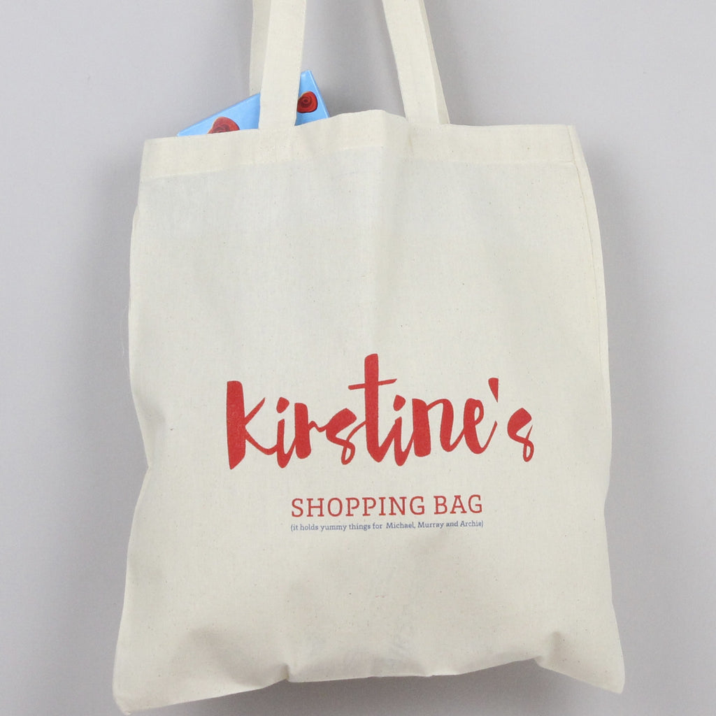 Personalised 'Shopping' Tote Bag