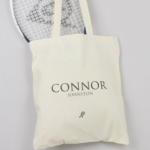 Personalised 'Tennis' Tote Bag