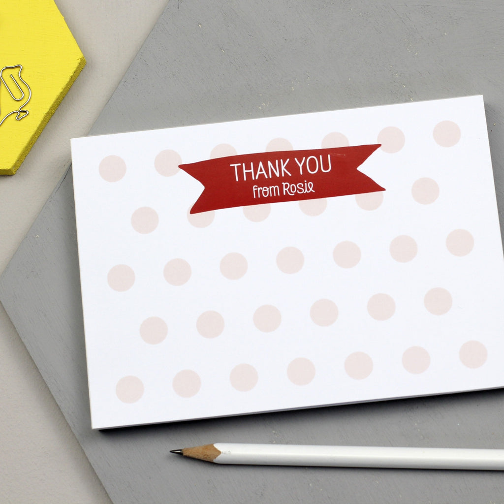 Personalised Children's Thank You Notepad